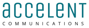 Logo accelent communications gmbh